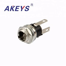 15PCS DC-025M 5.5-2.1MM metal round waterproof DC power jack audio with screw nut