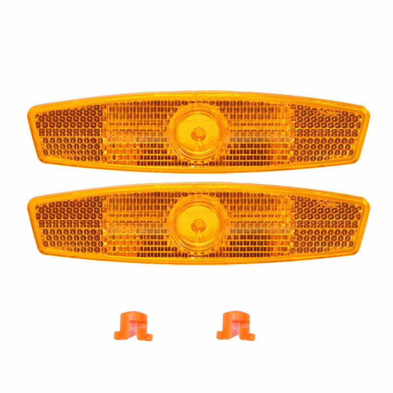 Bicycle Reflector Rear And Front Reflective Plate Mount Clip Warning Light Sets