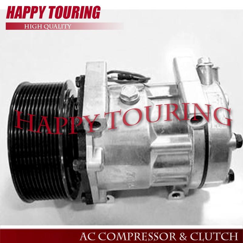 SD7H15 A/C Compresseur CA pour Caterpillar 24 V SD7H156095 SD7H15-6095 3729295 372-9295 0190504232 CAT372-9295