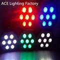 10 шт./лот быстрая доставка Супер Яркий LED Par RGB SlimPar Tri 7 LED Стадии Мытья Освещение для Свадьбы Концерт Вечеринок DJ LED Лампы