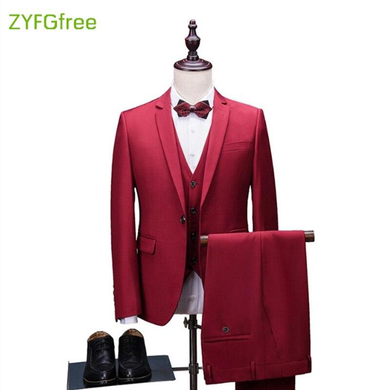 (blazer + Pants + Weste) 3 Stücke Männer Anzug Slim Fit Hochzeit Business Tragen Formale Mannklage Schwarz Elegante Kostüm Mariage Homme 5xl X01 Verschiedene Stile