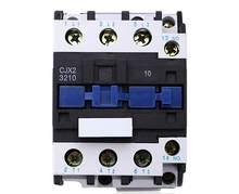 Contator de energia elétrica 24 v 36 v CJX2-3210 v 110 v 220 v nenhum contator de alimentação elétrica da montagem em trilho do ruído de 3 fases 380 32a da c.a. de lc1d nenhum