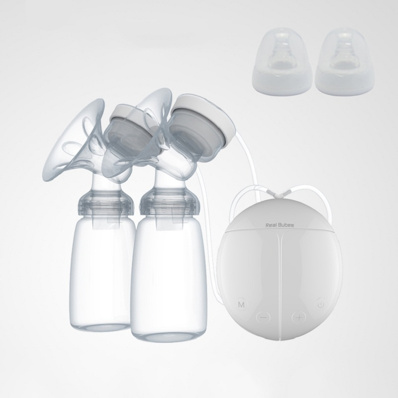 Double Electric breast pumps electric Powerful Nipple Suction USB Electric Breast Pump with baby milk bottle brand cold heat pad double breast pumps with milk bottle electric powerful nipple suction usb breast pump mothers breast feeding