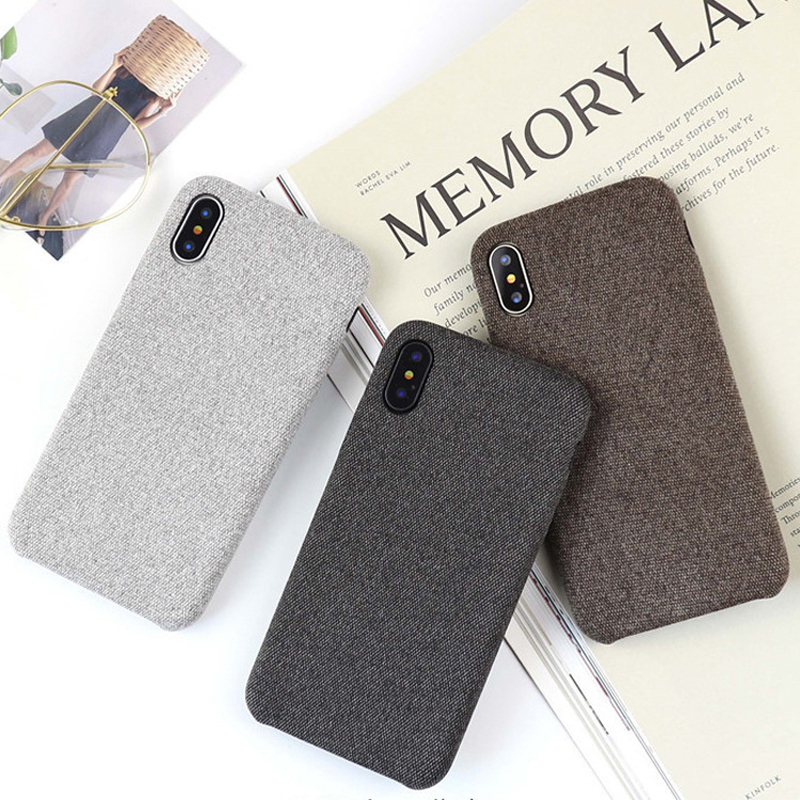 Flax flannel soft shell phone Case For iphone XR X XS Max 6 6S 7 8 Plus Fashion new style Pure color