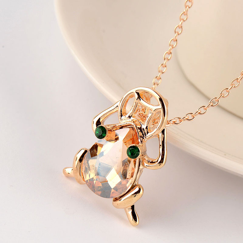 2018 synthetic necklace Female hipster personality necklace Couples present delicate necklace in Chain Necklaces from Jewelry Accessories
