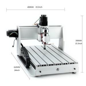 Image 2 - Fresadora CNC 6040 de 3 ejes y 4 ejes 2,2 kW, fresadora CNC, máquina de tallado de madera, USB Mach3, Control de carpintería