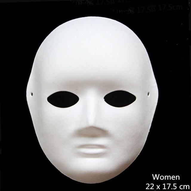 DIY papel blanco sin pintar máscara del partido las mujeres varios ...