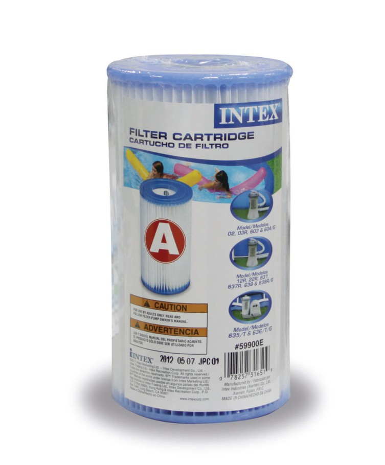 INTEX Original Household Family Swimming Pool Filtration Pool Filter Cartridge Replacement 2pcs Type A