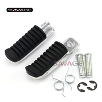 For KAWASAKI ER6N NINJA 650R 1000 VERSYS 650 1000 Motorcycle Rider Front Foot Pegs Footrest Adapters