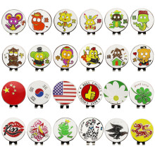 1.18 inch Golf Ball Mark w Magnetic Golf Hat Clip Mark Golf Ball Position 24 kinds for Choice Golf Marker(China)