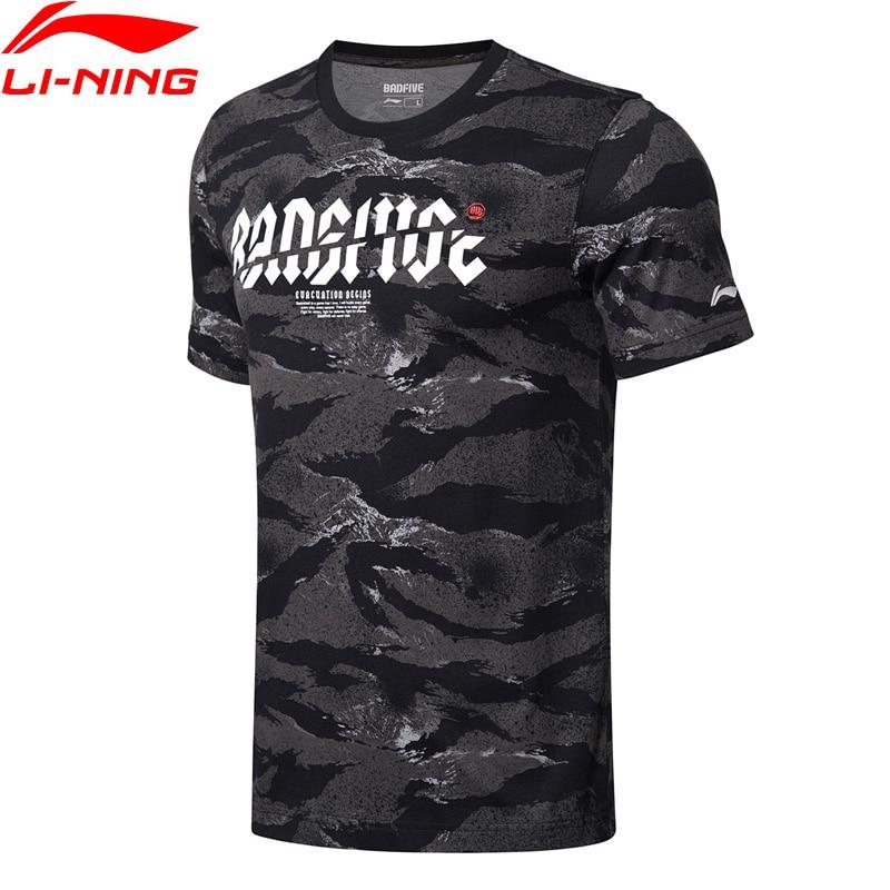 6a2f84e479 Li-ning hombres BAD FIVE Basketball Jerseys Regular Fit FORRO 100% algodón  deportes camisetas Tops AHSN307 MTS2827