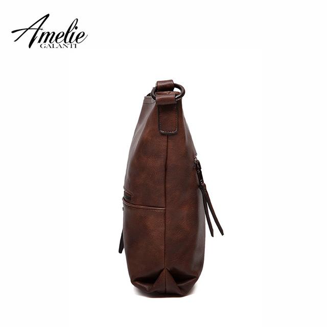 AMELIE GALANTI  2017 Women Messenger shoulder Bag Vintage High Quality crossbody bags Casual Solid Zipper 4 Colors fashion