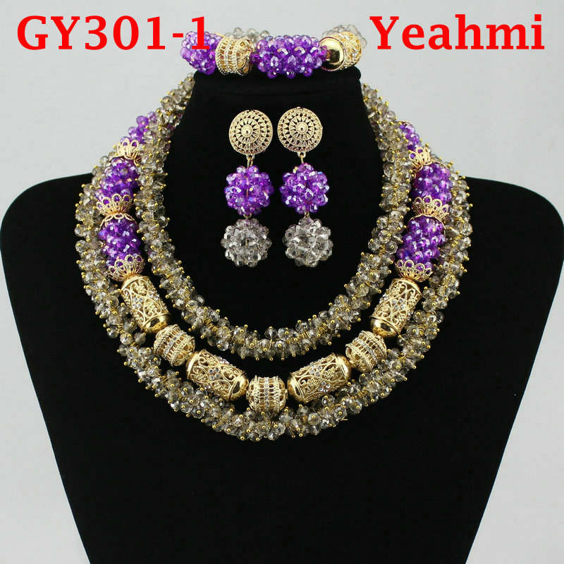 Fantastic Gold Bridal Beads African Jewelry Set Nigerian Women Costume Wedding Statement Necklace Set GY301-2Fantastic Gold Bridal Beads African Jewelry Set Nigerian Women Costume Wedding Statement Necklace Set GY301-2