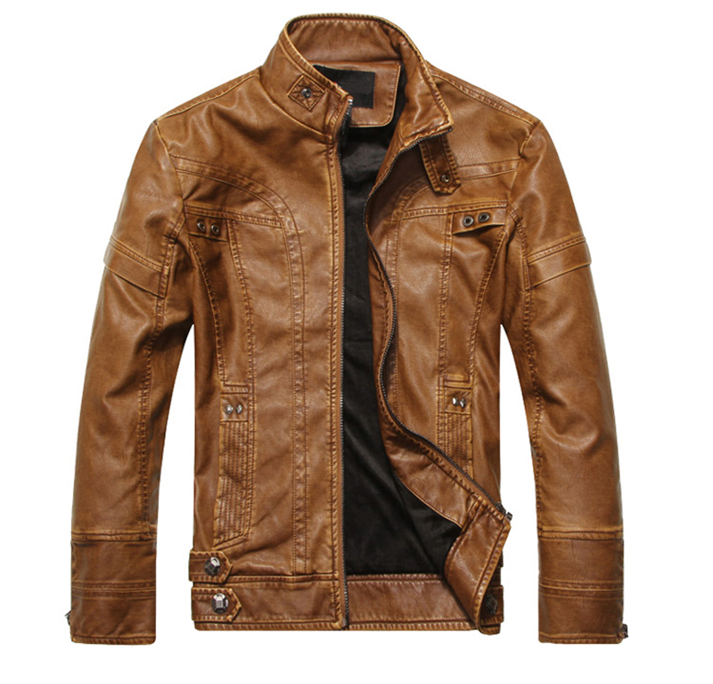 TACVASEN Motorcycle Leather Jacket Men Autumn Faux Leather Bomber Pilot Jackets and Coats Casual Fashion Leather Windbreaker 5XL