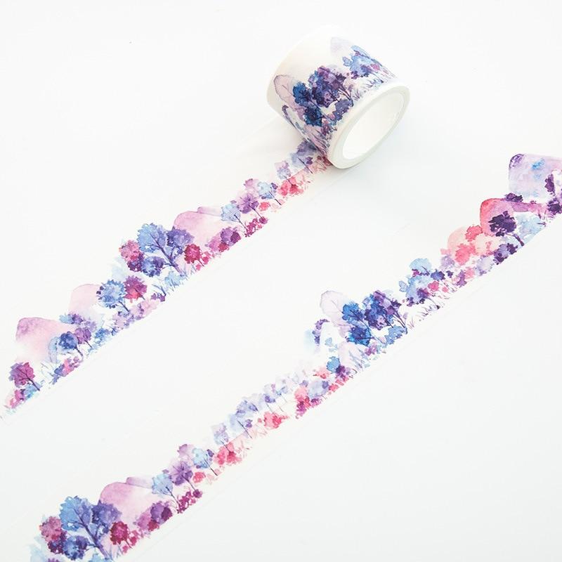 Purple Forest Washi Tape DIY Decorative Masking Sticky Adhesive Tape For Scrapbooking & Phone DIY Decoration