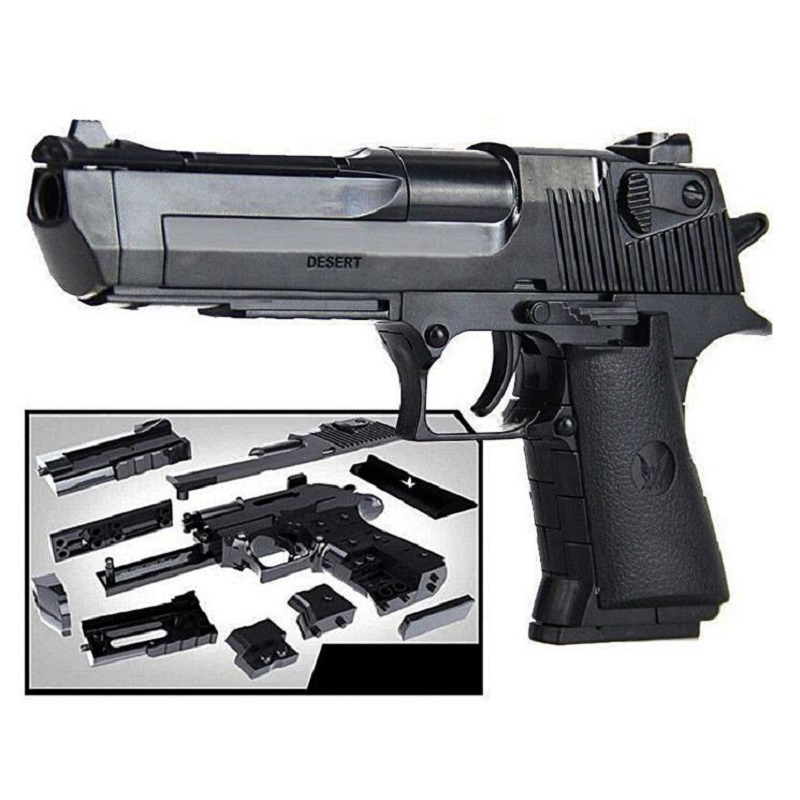 Gun Pistol Rifle DIY Building Blocks 3D Miniature Model Plastic Toy Gift for Boy Kids DIY assembling Airsoft Air Guns