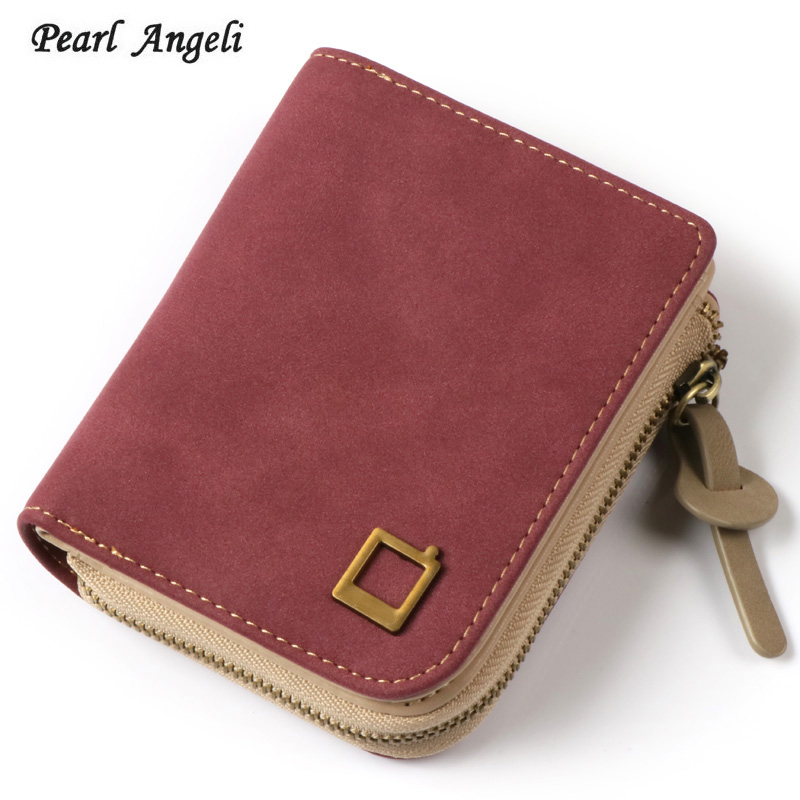 Для женщин кошелек маленький кошелек на молнии HASP монета держатель для карт короткие Женские Кошельки из искусственной кожи бренд разработ... ...