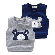 wt-7606 Baby cartoon vest spring 2017 Korean version of the new boy's children's Knitted Vest coat