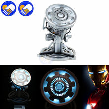 NEW MK43 MK46 1:1 Scale The Avengers Juguetes Anime Iron Man 3 Arc Reactor LED Light Action Figure(China)