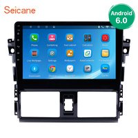 Seicane 2Din Android 6.0/7.1/8.1 10.1 inch GPS Car Radio Touchscreen Wifi Multimedia Player Head Unit For 2013 2016 Toyota Vios