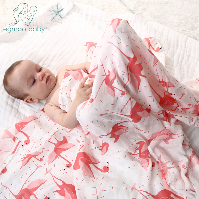 Oganic Cotton Muslin Baby Swaddle Blanket Similar To Modern Burp Blanket Infant Newborn Receiving Blanket Breathable Towel Wrap
