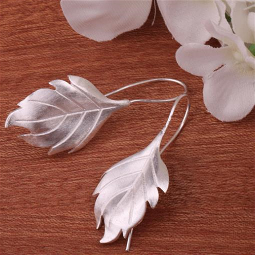 2019 YKNRBPH Retro Feather Drop Earrings S925 Sterling silver Earrings long Leaf Fine jewelry2019 YKNRBPH Retro Feather Drop Earrings S925 Sterling silver Earrings long Leaf Fine jewelry