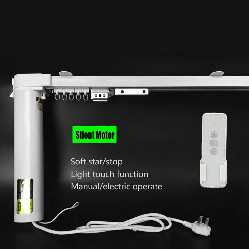 Cortinas cortina SILENCIOSO elétrica 100-240 V, Frete grátis, 1.0-3.0m de largura, 90/135 graus, controle de wi-fi aceitável