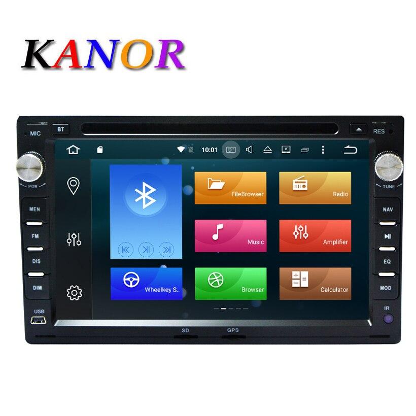 KANOR Octa Core 4 + 32g 2 Din Android 8.0 Autoradio Lecteur Pour VW Volkswagen Passat B5 Golf 4 Jetta Polo Sharan T5 1999-2005
