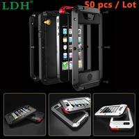 50PCS Waterproof Shockproof Aluminum Gorilla Metal Cover Case For Apple IPhone Models 4 4s 5 5s