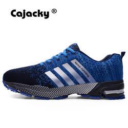 Cajacky кроссовки мужские кроссовки плюс размер 47 46 летние воздухопроницаемые сетчаты для мужчин Спортивная обувь Атлетическая для активного