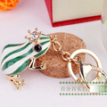 FREE SHIPPING New Arrival Green Frog Animal Fashion Keychains Bag Car Jewelry Souvenir for Women and Men