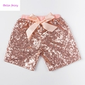 free shipping baby girls boutique pants kids shorts bling casual clothing girls solid sequin shorts  KP-SEQUS06