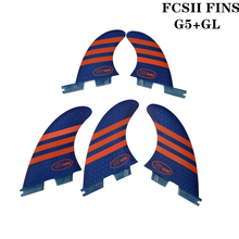 FCSII G5+GL Surfboard Blue/Red color Honeycomb Fins tri-quad fin set FCS 2 Fin Hot Sell II Quilhas