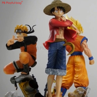 2019 Jump Force figure Narutdo & Dragon Bell Goku & One Piese Luffy PVC Anime Collection Best children gifts Room decoraion HC76