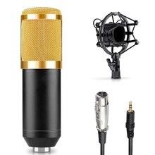 Professional BM-800 BM800 Condenser KTV Microphone Cardioid Pro Audio Studio Vocal Recording Mic KTV Karaoke+ Metal Shock Mount