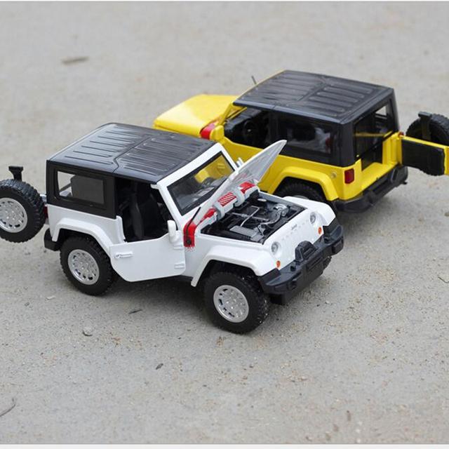 1/32 Nuevos Niños de Juguete Modelo Wrangler Es El SUV de Luz Y Sonido tire hacia Atrás de Aleación de Modelos de Coche de Niño Regalo de Navidad Envío Libre x238