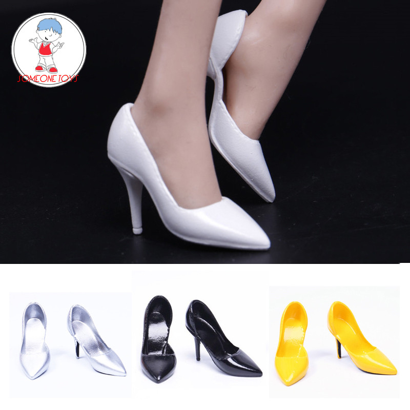 "DIY 1//6th Black Women/'s Fashion Sandals Shoe For 12/"" Phicen Female Figure Body"