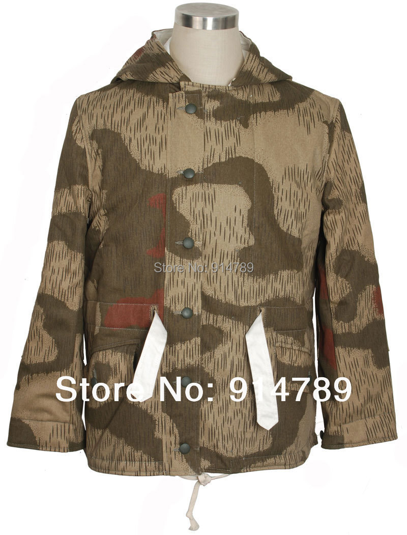 Ww2 German Tan&water Camo And White Winter Reversible Parka In Sizes-33996 Orders Are Welcome.