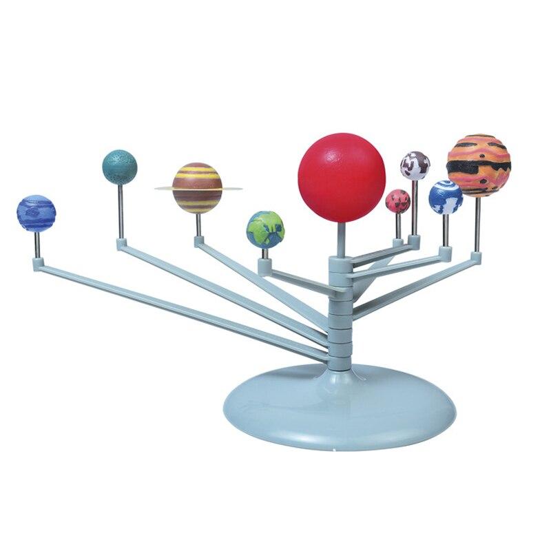 New kid Educational DIY Nine Planets in Solar System Planetarium Painting Science Teaching Toys