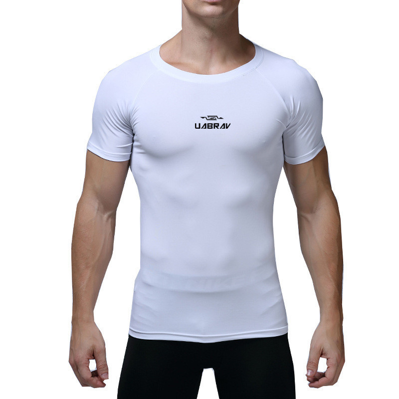 Mens Short Sleeve Quick Dry Sports T-shirt Breathable Running Gym Workout Tops Clothing, Shoes & Accessories