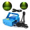 New Blue Mini Portable RG Meteor Laser Lights USB To 3.5mm Plug Line DJ Bars KTV Home Xmas Party Dsico LED Stage Lighting OH101U