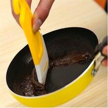 1 шт., Креативные кухонные инструменты, инструмент для приготовления торта, приспособления для приготовления пищи, инструменты для многоразового использования, силиконовый скребок для чистки, кухонные аксессуары, Q