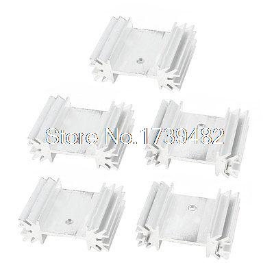 5 x Aluminum Heat Sink Heatsink 25x34x12mm for TO220 Power IC l7805cv to220