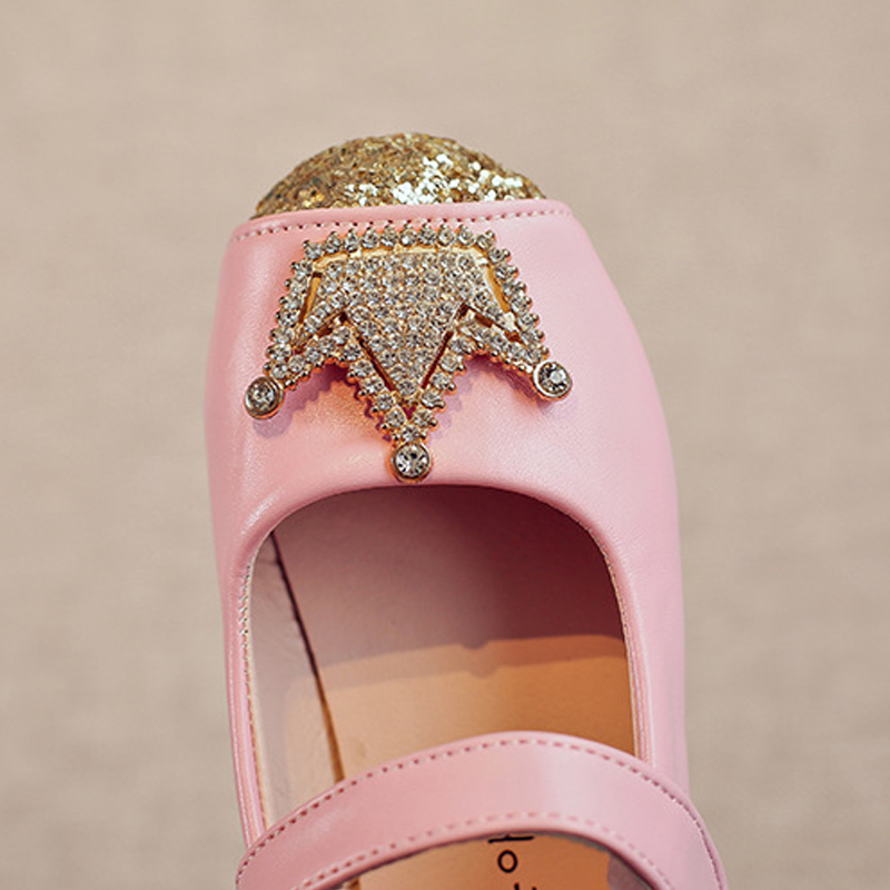 Toddler Dress Shoes Kids Girl Flat Crown Rhinestone Baby Shoes 2019 Spring Summer Jelly Sandals for Girls Soft Dance Shoes Child