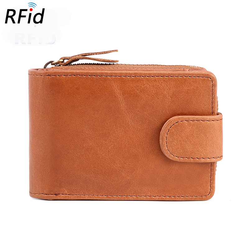New Arrivals Vintage RFID Protection Card Wallets Guaranteed 2018 Hot Brand Business Men Holders Multi-function Coin Purses