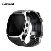 Pewant T8 Bluetooth Smart Watch Support SIM TF Card LBS Positioning With 0.3MP Camera Smartwatch Wristwatch For Android Phone