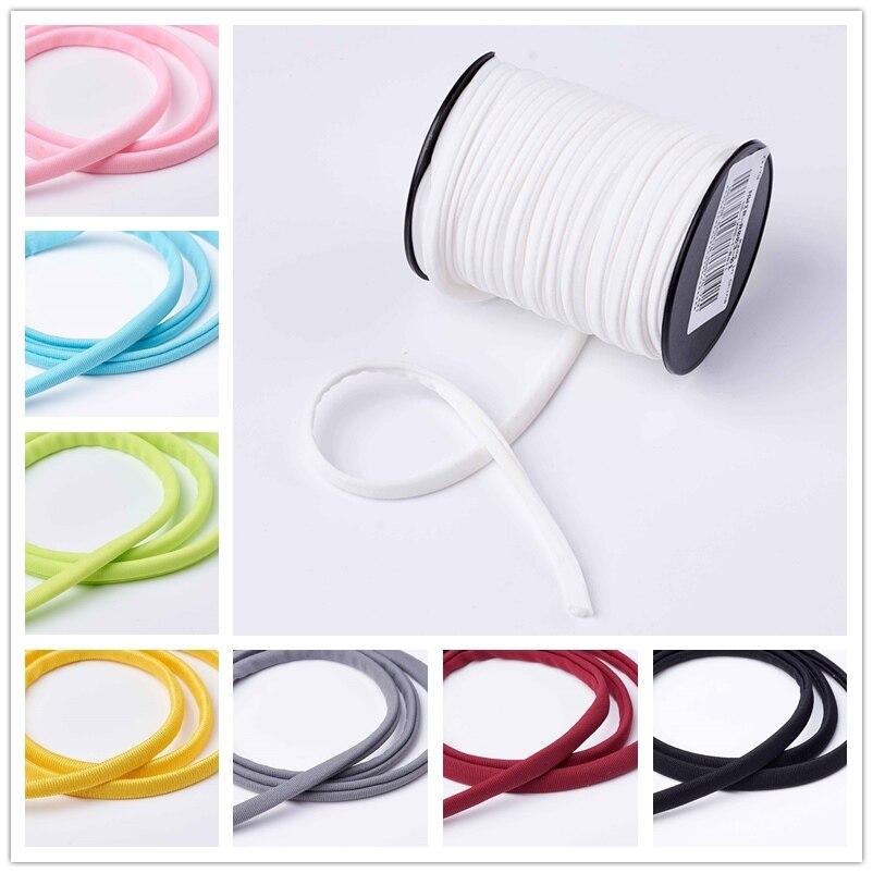 20 m/rouleau 5mm Mode Doux Minuscule Corde En Nylon Fil Élastique Pour Femmes Bracelets Collier Ras Du Cou Bijoux DIY accessoires 19 couleur