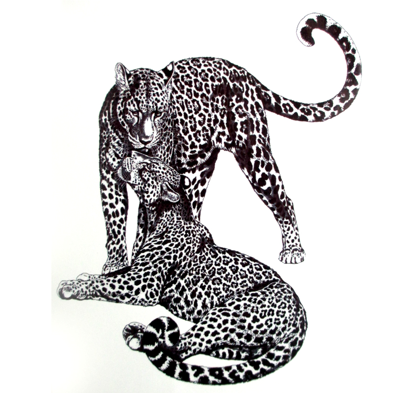 Us 163 18 Offhot 3d Leopard Temporary Tattoo Stickers Head Tattoo 2115 Sexy Products Cool Beauty Tattoo Waterproof Girl Panther Sticker In