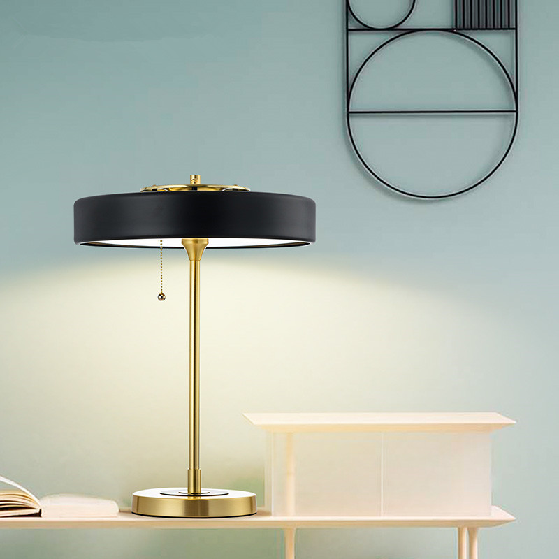 Modern Table Lamp Bedroom Bedside LED Table Light Standard Reading ...