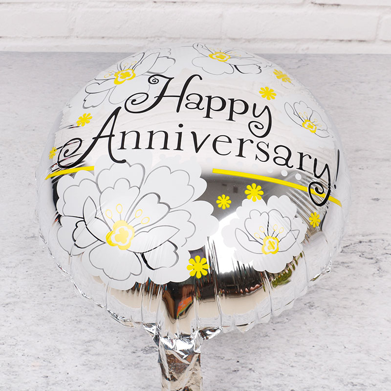 Happy Anniversary Foil Balloons 50pcs Inflatable Helium Globos for Birthday Wedding Anniversary Theme Party Supplies Home Decor